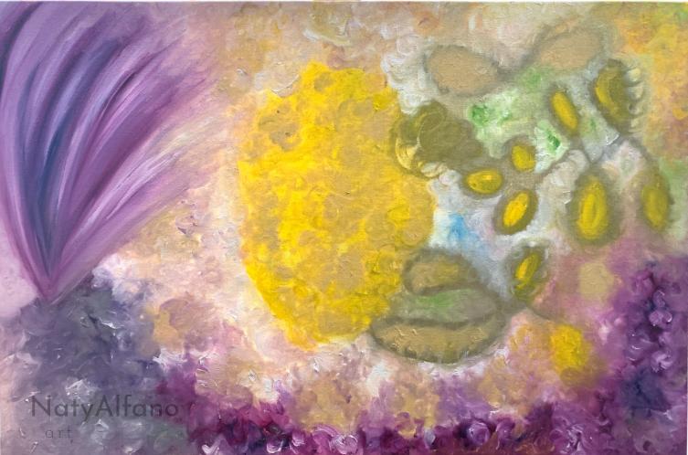 Obra arte pintura óleo cuadro decoración Naty Alfano