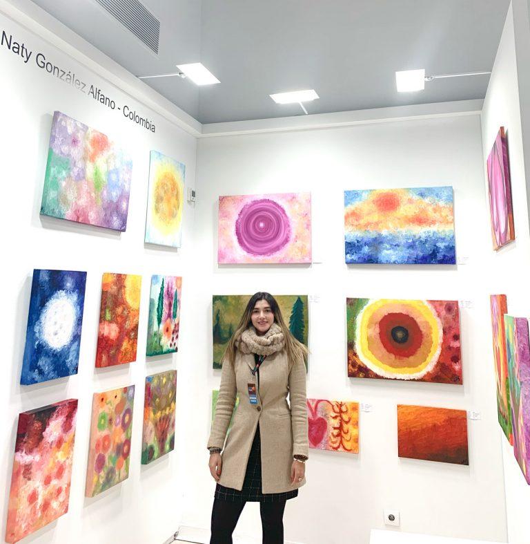 Artist Experience Feria Arte Contemporaneo Naty Alfano Artist Painting Artista Pintura Obras Arte Madrid España Colombia 2020