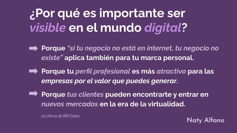 Visibilidad de tu marca personal en el mundo digital