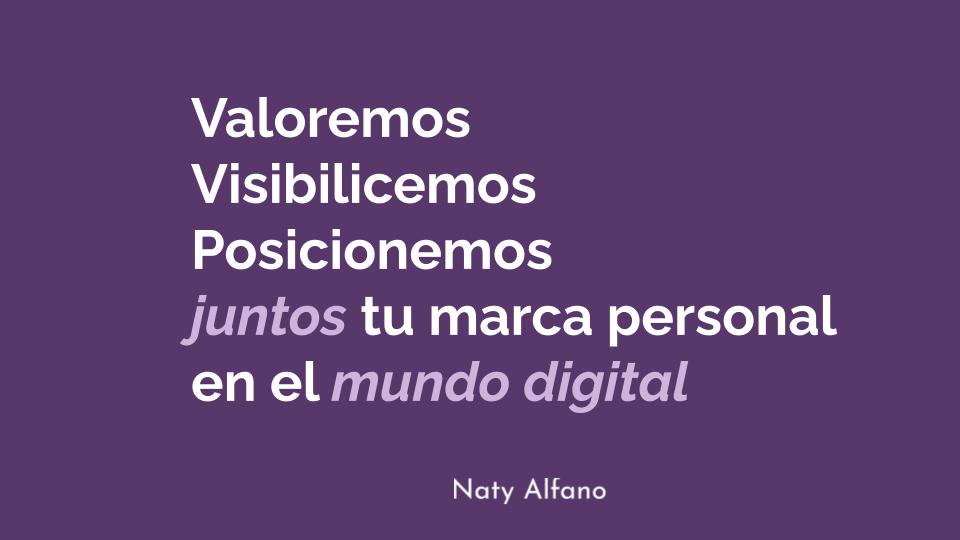 Marca Personal Naty Alfano Comunicación digital